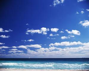 Sailboat Under Blue Skies off the Florida Coast